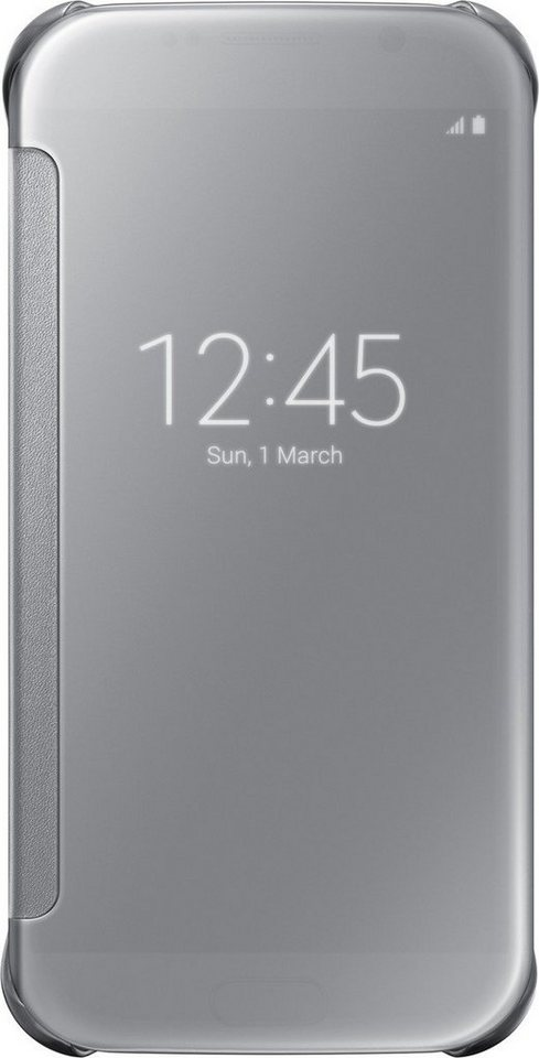 Samsung Handytasche »Clear View Cover EF-ZG920 für Galaxy S6, Silber« in Silber