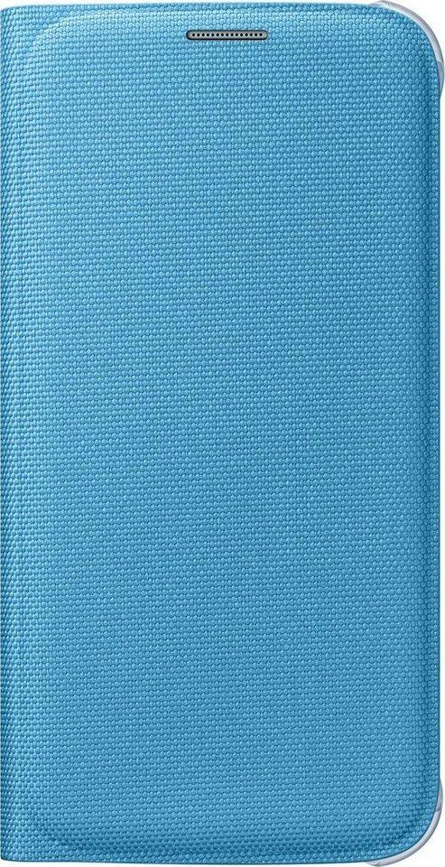 Samsung Handytasche »Flip Wallet Fabric EF-WG920 für Galaxy S6, Blau« in Blau