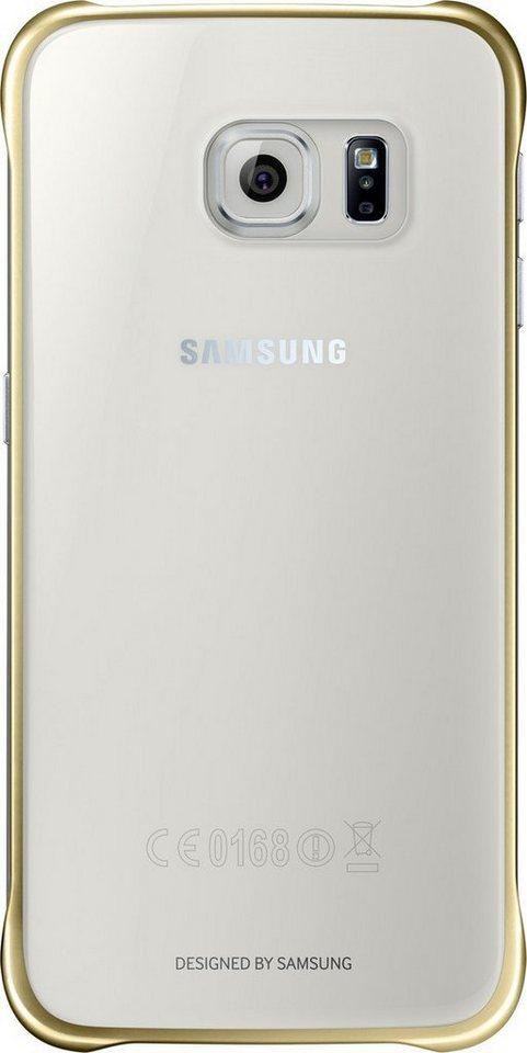 Samsung Handytasche »Clear Cover EF-QG920 für Galaxy S6, Gold« in Transparent