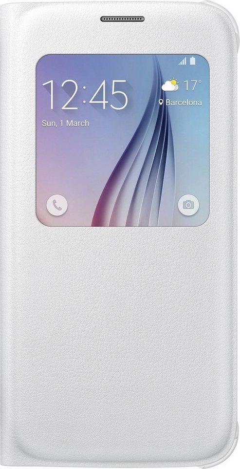 Samsung Handytasche »S-View Cover PU EF-CG920 für Galaxy S6, Weiß« in Weiß