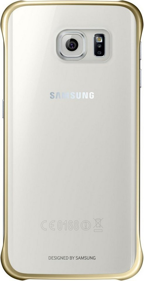 Samsung Handytasche »Clear Cover EF-QG925 für Galaxy S6 Edge, Gold« in Transparent