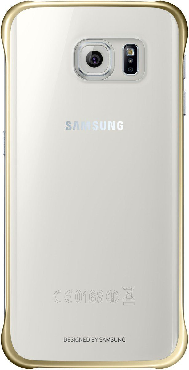 Samsung Handytasche »Clear Cover EF-QG925 für Galaxy S6 Edge, Gold«
