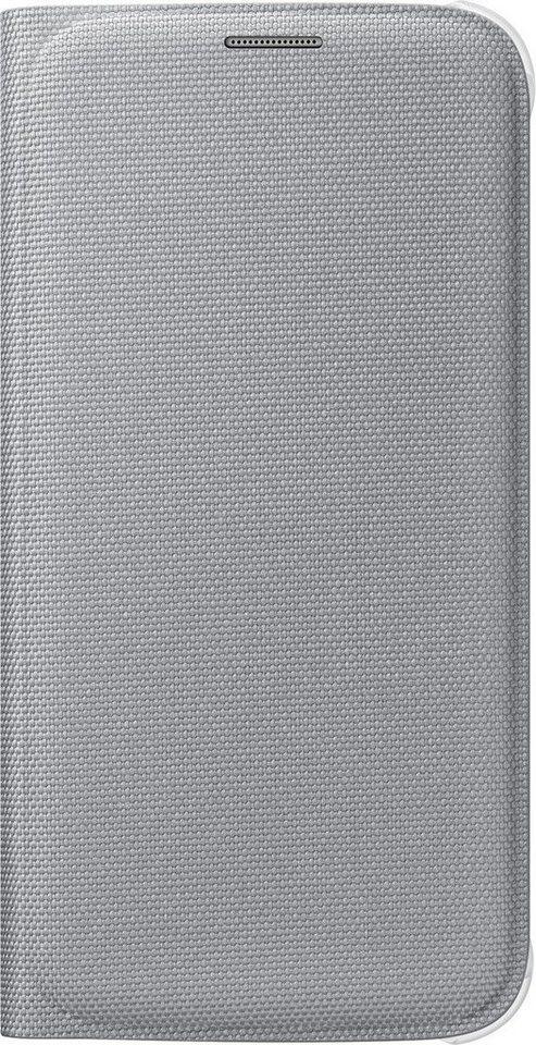 Samsung Handytasche »Flip Wallet Fabric EF-WG920 für Galaxy S6, Silber« in Silber