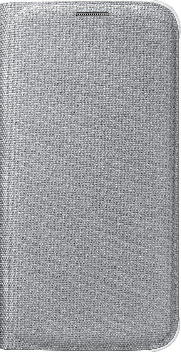 Samsung Handytasche »Flip Wallet Fabric EF-WG920 für Galaxy S6, Silber«