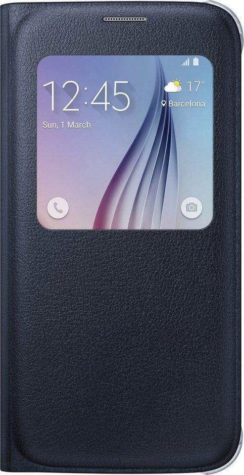 Samsung Handytasche »S-View Cover PU EF-CG920 für Galaxy S6, Schwarz« in Schwarz