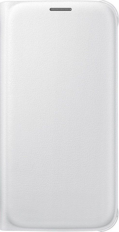 Samsung Handytasche »Flip Wallet PU EF-WG920 für Galaxy S6, Weiß« in Weiß