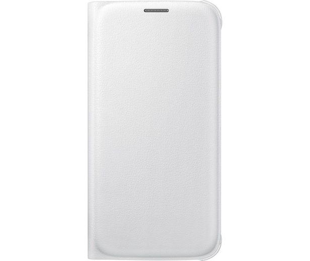 Samsung Handytasche »Flip Wallet PU EF-WG920 für Galaxy S6, Weiß«
