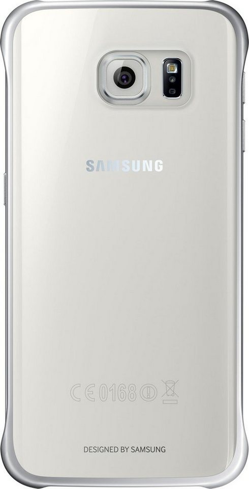 Samsung Handytasche »Clear Cover EF-QG925 für Galaxy S6 Edge, Silber« in Transparent