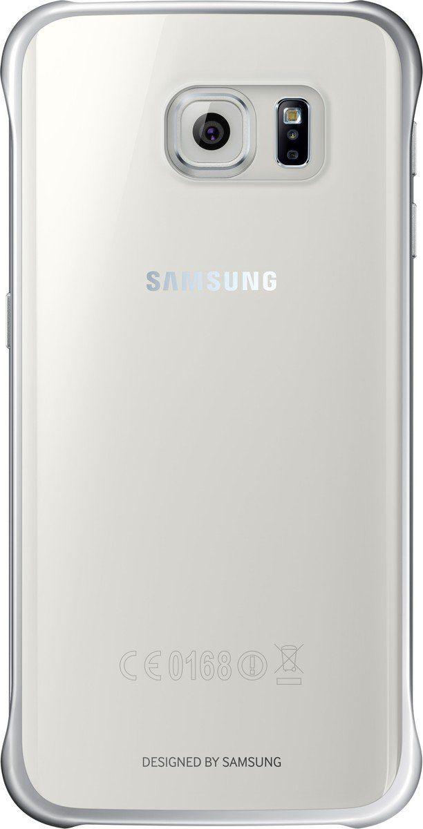 Samsung Handytasche »Clear Cover EF-QG925 für Galaxy S6 Edge, Silber«