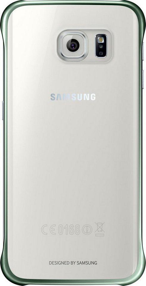 Samsung Handytasche »Clear Cover EF-QG925 für Galaxy S6 Edge, Grün« in Transparent