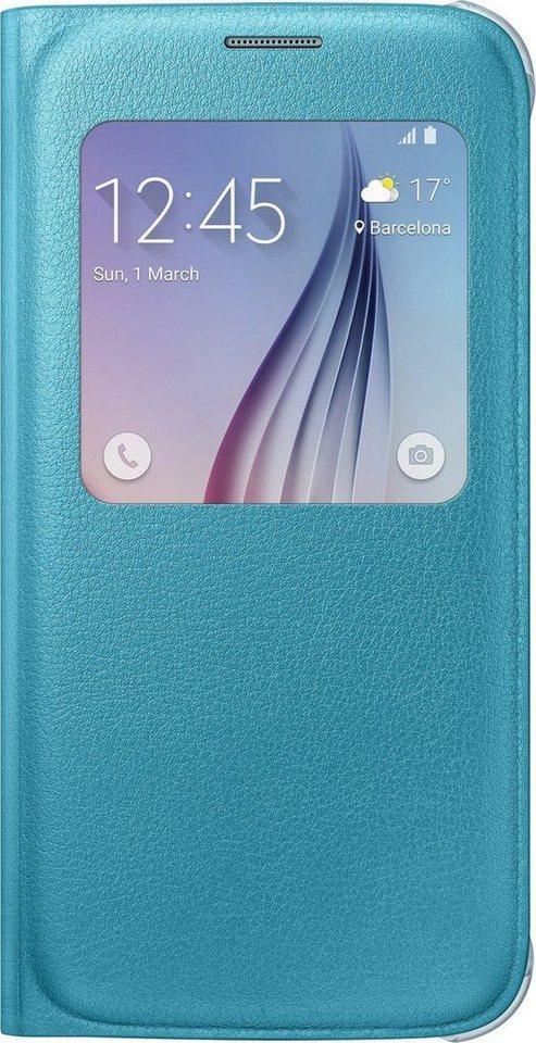 Samsung Handytasche »S-View Cover PU EF-CG920 für Galaxy S6, Blau« in Blau