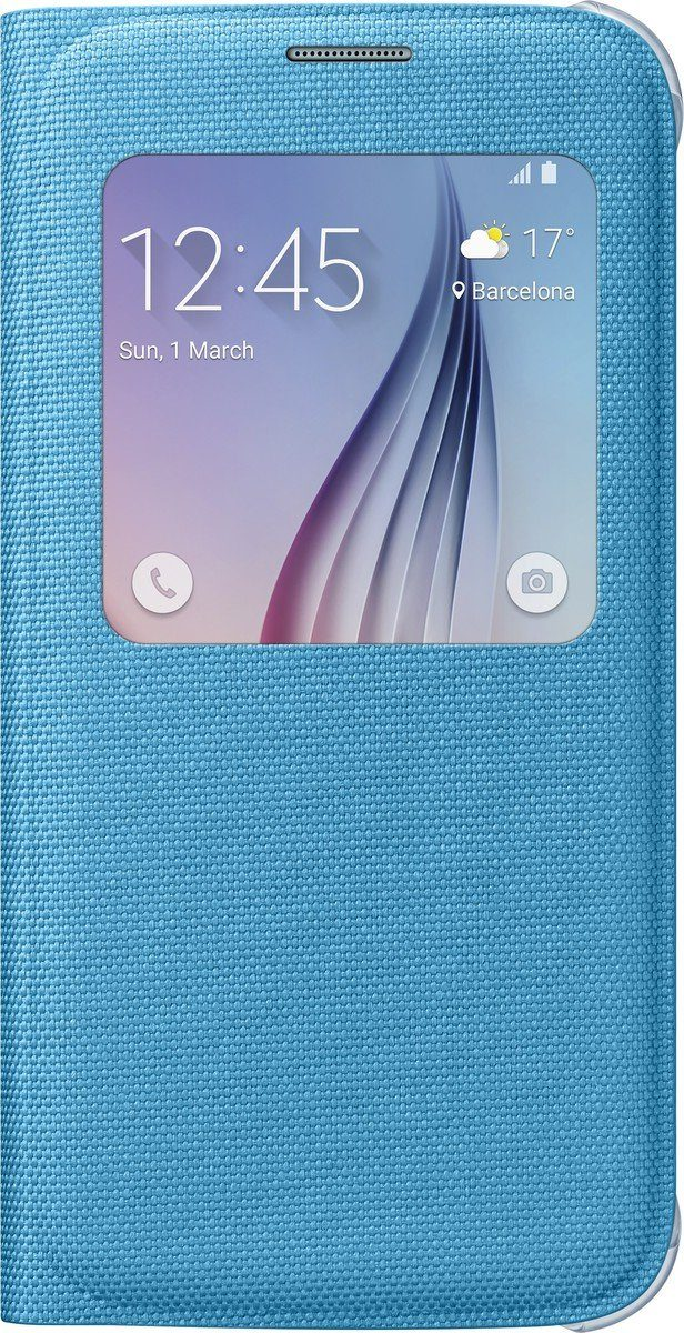 Samsung Handytasche »S-View Cover Fabric EF-CG920 für Galaxy S6, Blau«