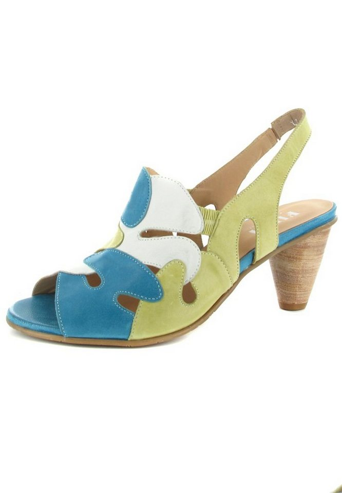 Fidji Sandaletten in Blau/Grün/Weiß