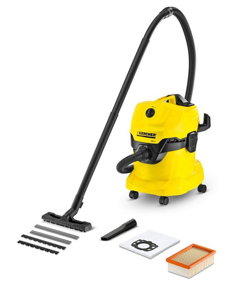 Nass-/Trockensauger »WD 4« in gelb