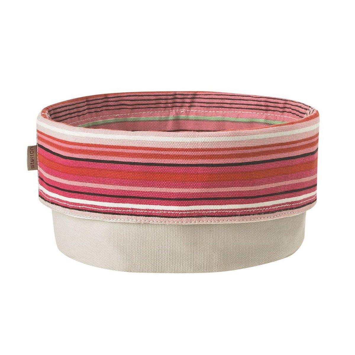 Stelton Stelton Brottasche 23 cm, gestreift pink, weiss
