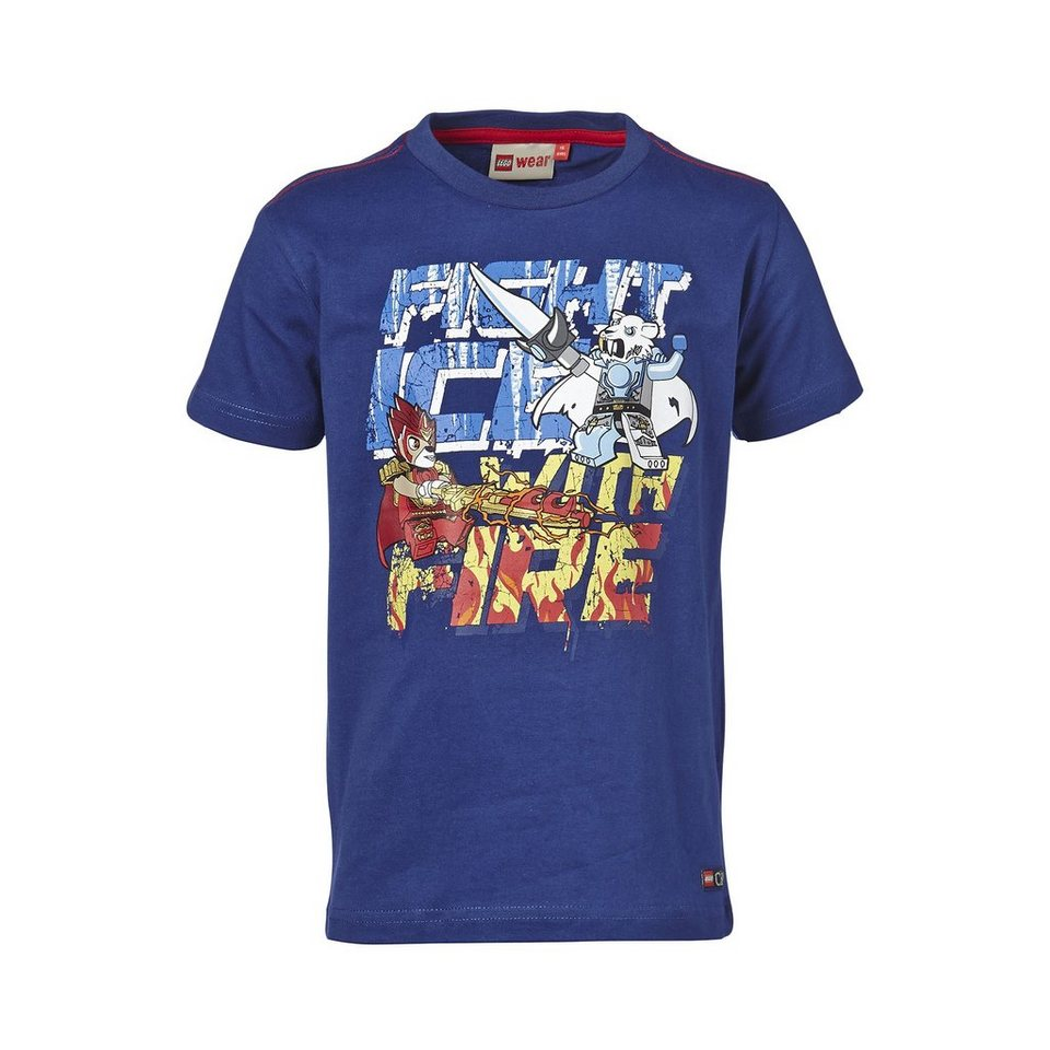 """LEGO Wear Legends of Chima T-Shirt Timmy """"Fight Ice with Fire"""" kurzarm Sh in dunkelblau"""
