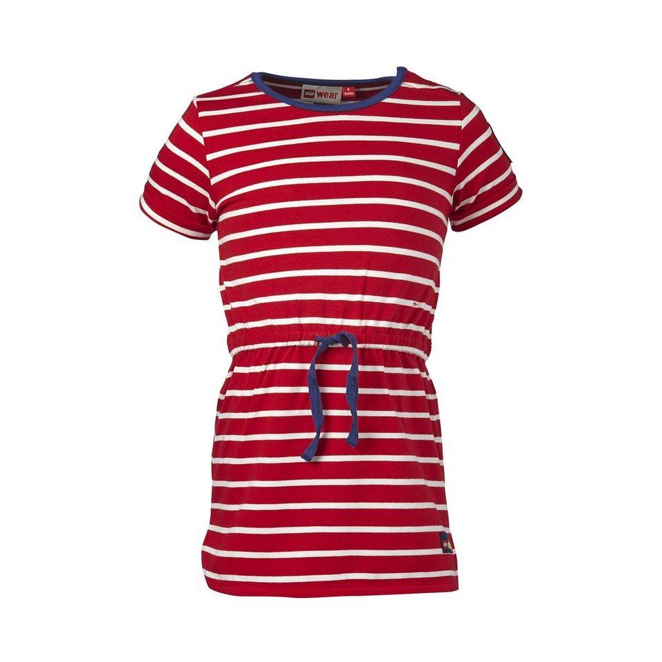 """LEGO Wear Duplo Jersey Kurzarmkleid """"Streifen"""" Dress Daimi in rot"""