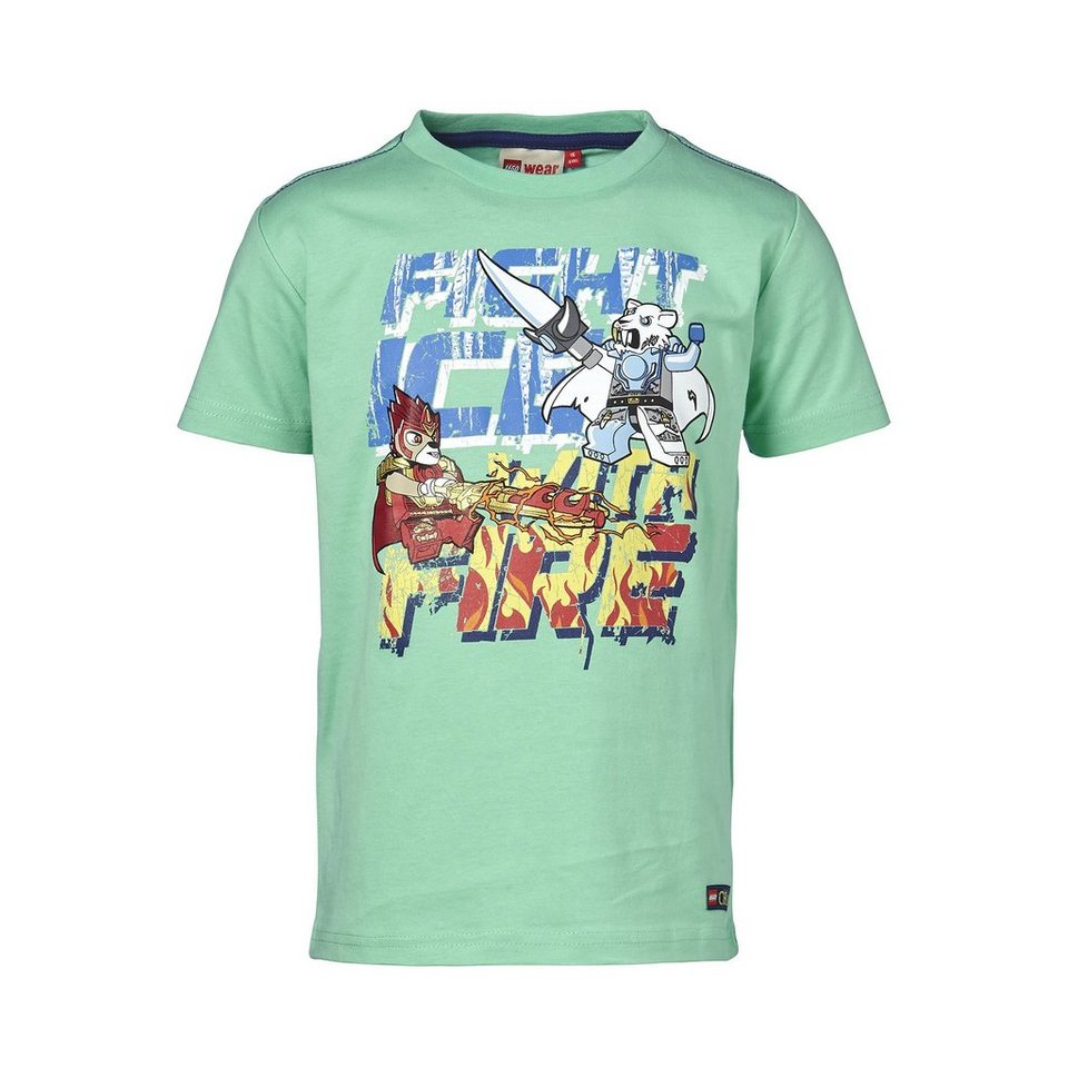 """LEGO Wear Legends of Chima T-Shirt Timmy """"Fight Ice with Fire"""" kurzarm Sh in türkis"""