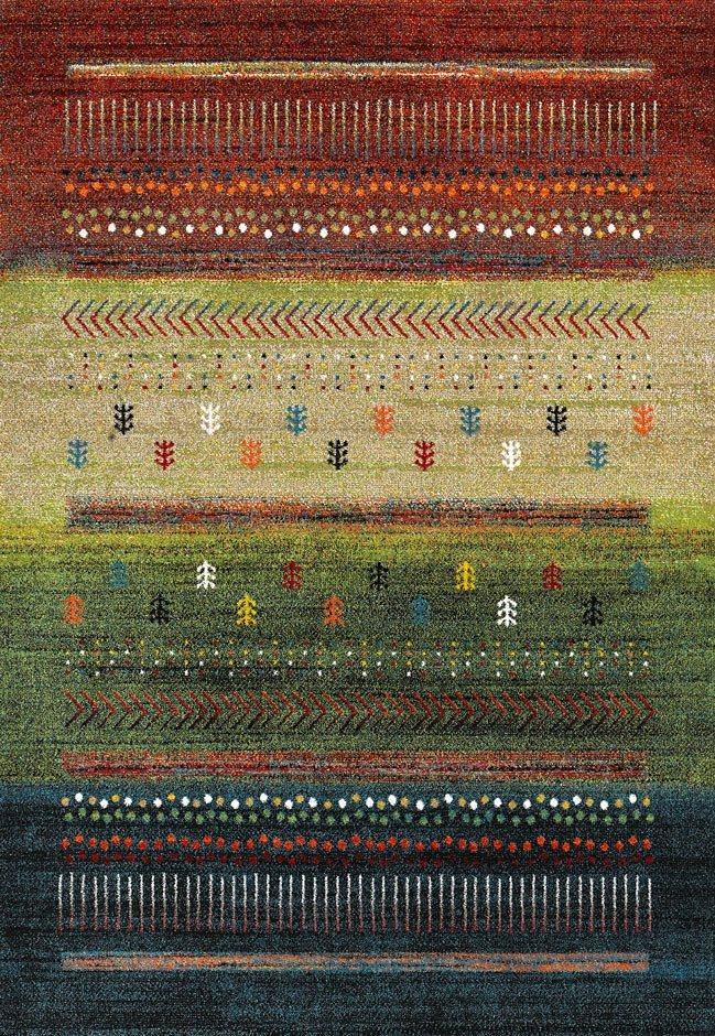 Teppich, Merinos, »ETHNO«, gewebt in multi