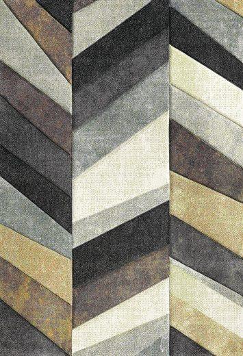 Teppich »BELIS PARKETT«, merinos, rechteckig, Höhe 13 mm, handgearbeiteter Konturenschnitt