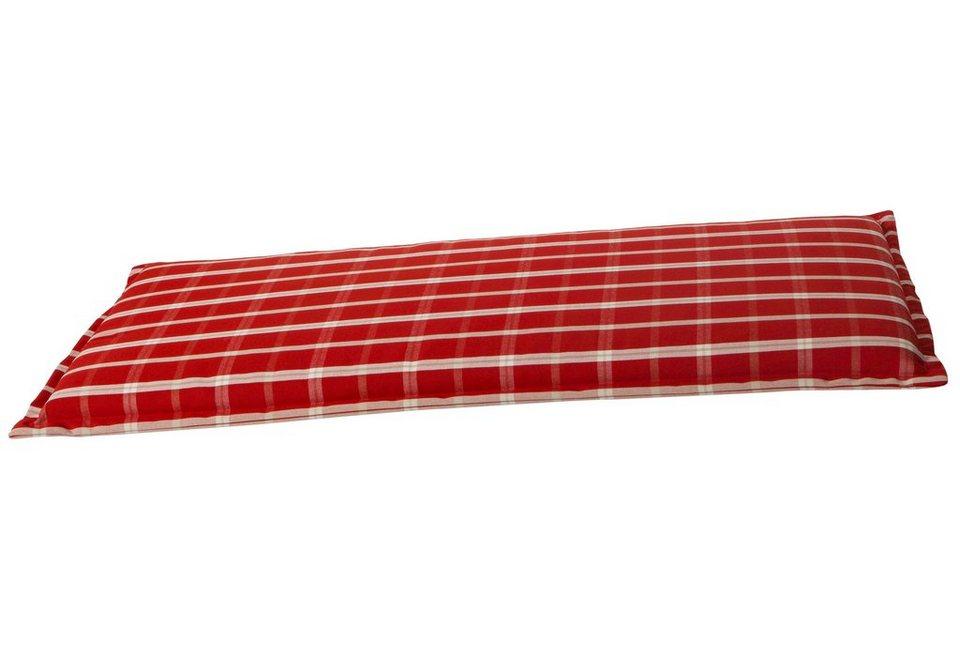 GO-DE Bankauflage , (L/B): ca. 100x50 cm in beige/rot