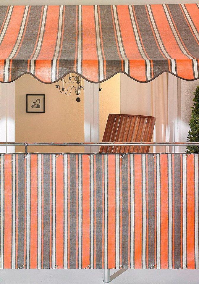 Balkonsichtschutz orange/braun (in 2 Höhen) in orange