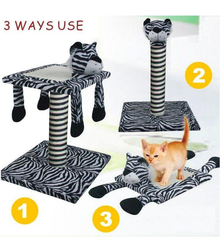Kratzbaum »Set 3-in-1 Zebra« in weiß, schwarz