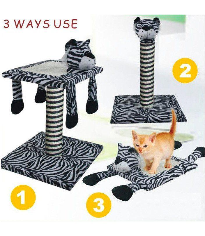HEIM Kratzbaum »Set 3-in-1 Zebra«, Gesamthöhe: 53 cm