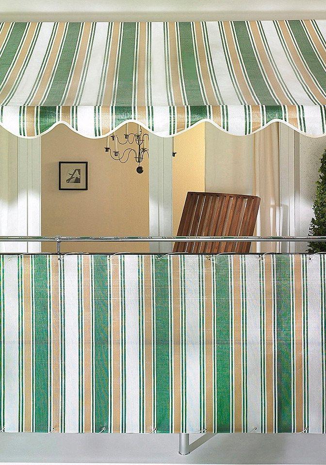 Balkonsichtschutz beige/grün (in 2 Höhen)  in braun