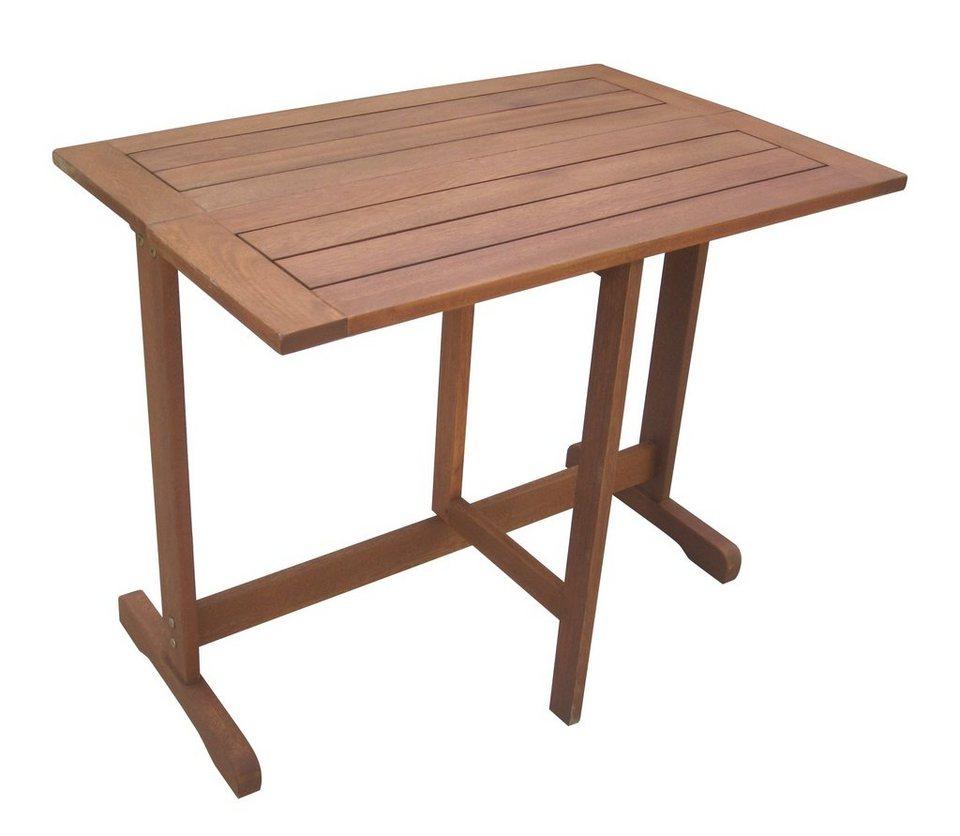 Merxx Gartentisch Holz Eukalyptusholz Klappbar 90x60 Cm Braun