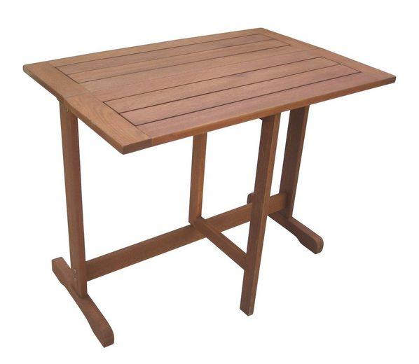 Gartentisch holz eukalyptusholz klappbar 90x60 cm braun online kaufen otto - Gartentisch klappbar holz ...