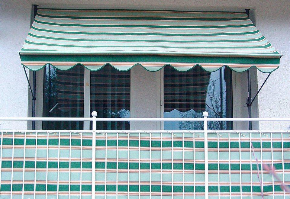 Balkonsichtschutz beige/grün (in 2 Höhen) in grün