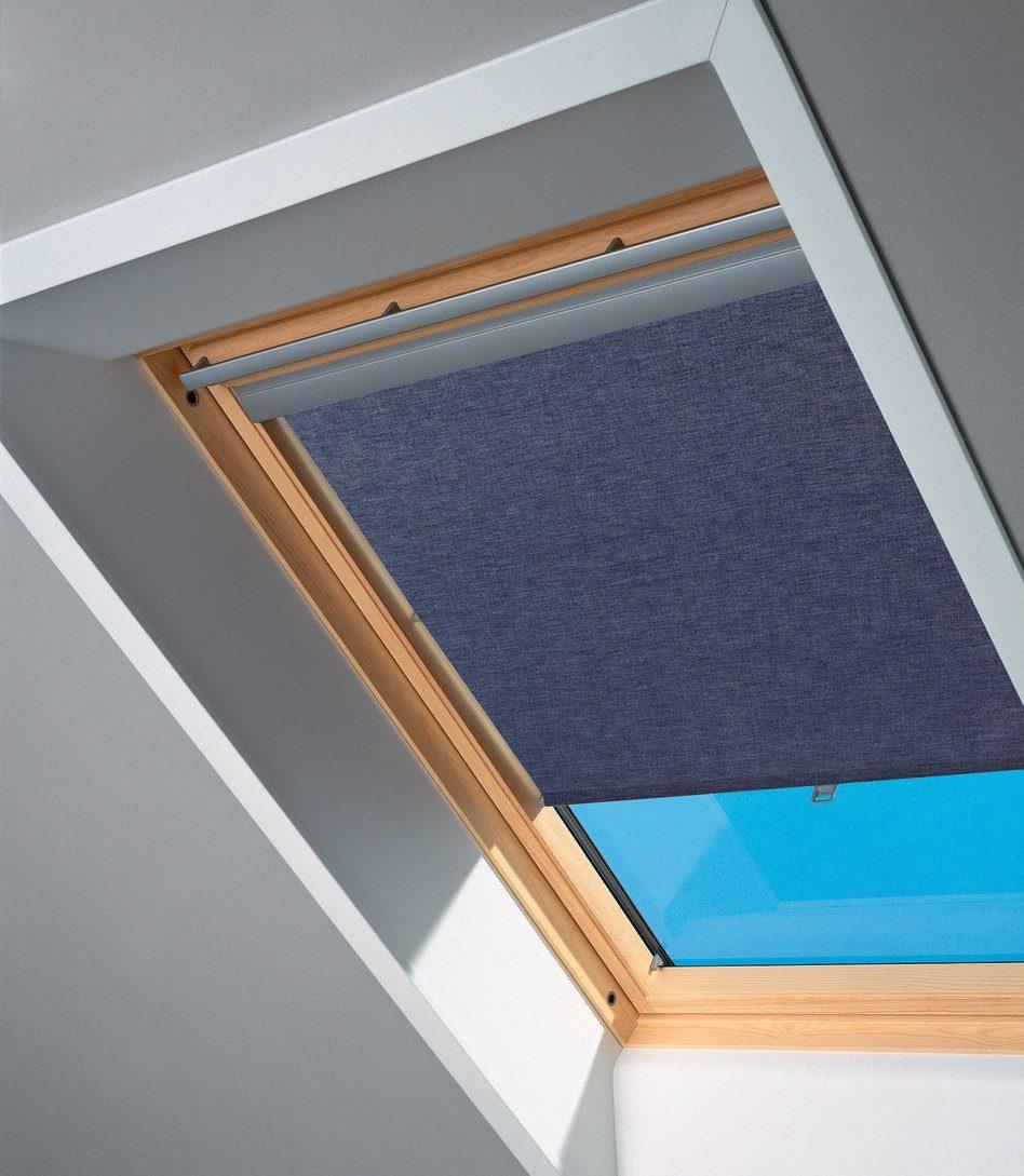 Sichtschutzrollo in blau für Fenstergröße: UK04, UK08, UK10, U04, U08, U10, 808, 810