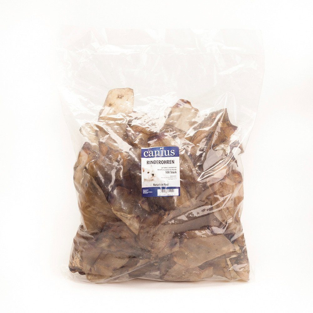 Hundesnack »Rinderohren, getrocknet«, 100 Stück im Beutel