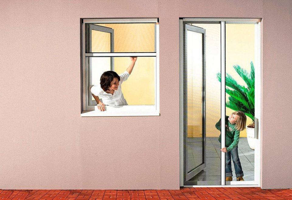 Insektenschutz-Rollo »Premium« Klemmrollo für Fenster, braun