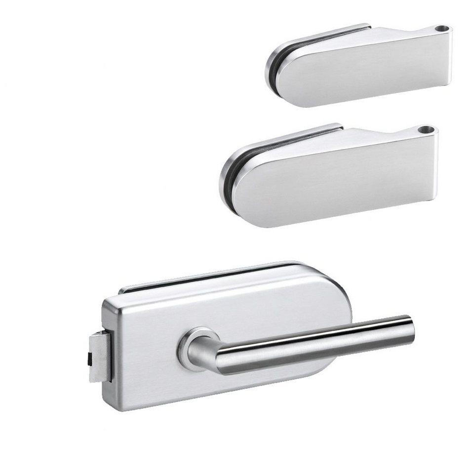 Studio-Beschlag »1« für Glas-Zimmertüren in weiß