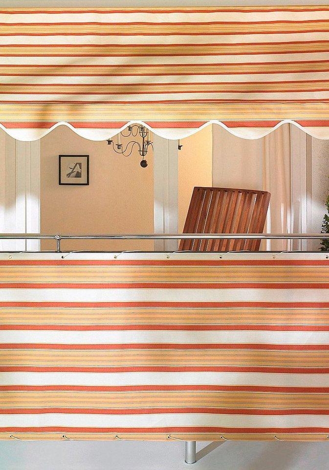 Balkonsichtschutz braun/beige (in 2 Höhen) in braun