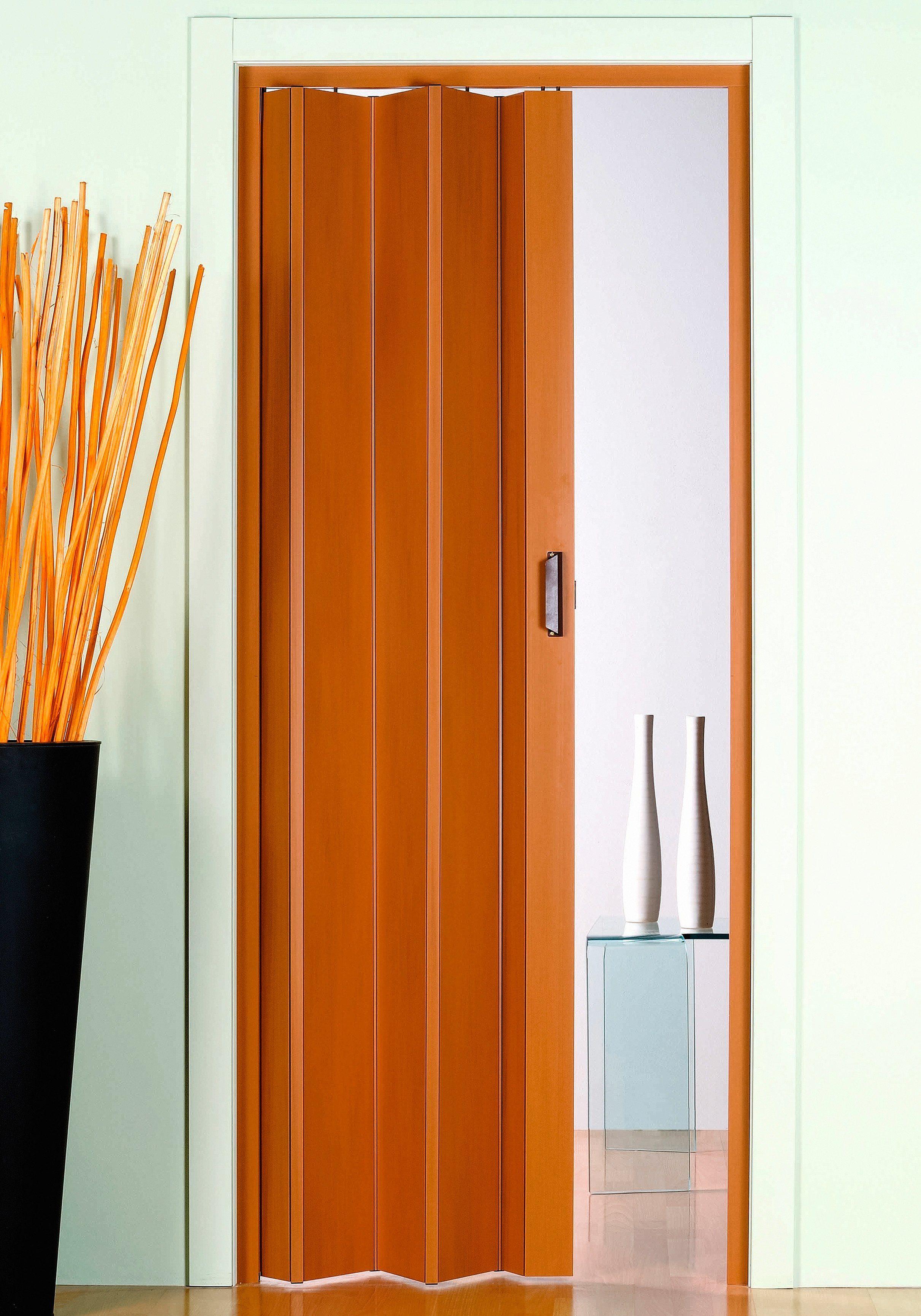 Kunststoff-Falttür »Monica«, BxH: 83x204 cm, Buchefarben-Pastell ohne Fenster