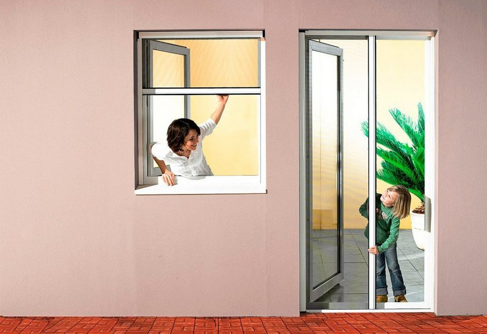 Insektenschutz-Rollo »Premium« Klemmrollo für Fenster, braun, individuell kürzbar