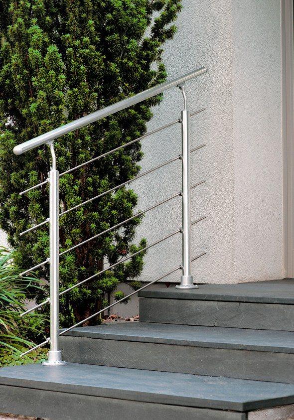 Treppengeländer »Prova« in silberfarben