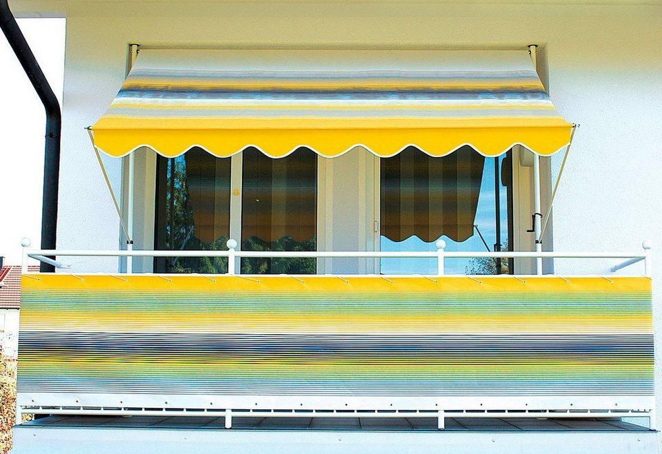 Balkonsichtschutz gelb/grau (in 2 Höhen)  in grau