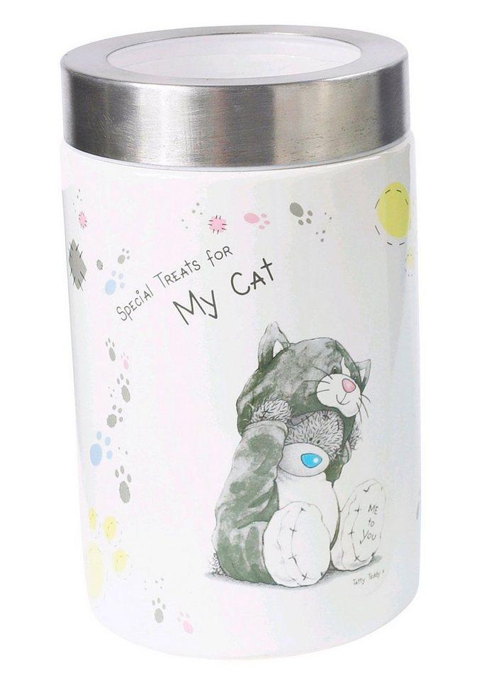 Katzen-Futterbox »Me to You« in weiß