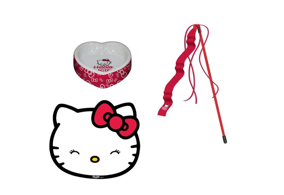 Katzen-Napf-Set »Hello Kitty Napfset« in rot
