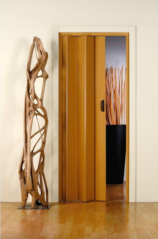 Kunststoff-Falttür »Monica« Höhe nach Maß, eichefarben-pastell in eichefarben-hell