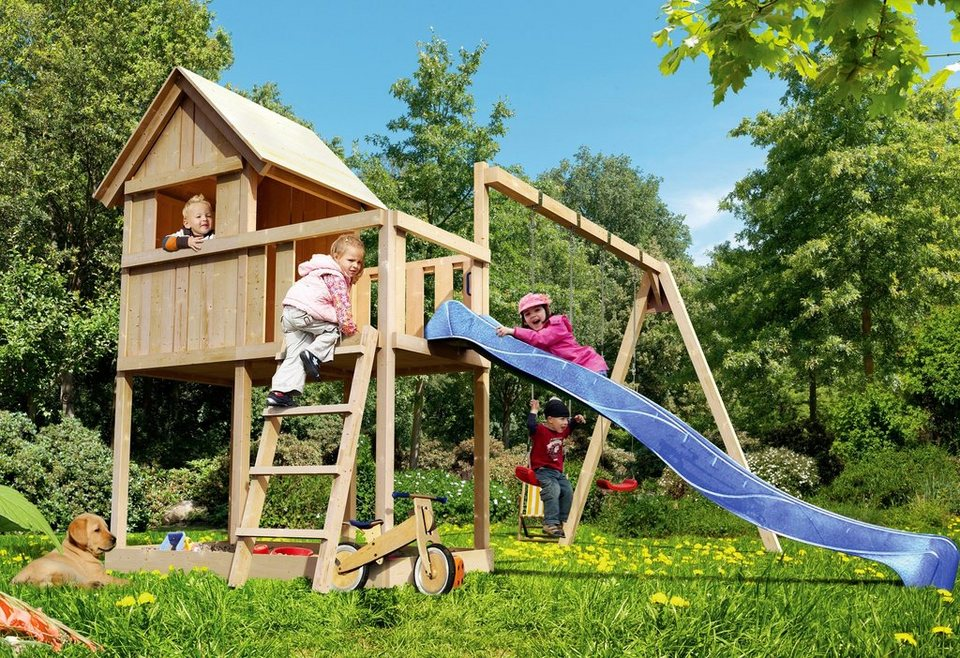 KARIBU Spielturm  Fidibus ECO , BxT: 119x137 cm, inkl. Doppelschaukel online kaufen