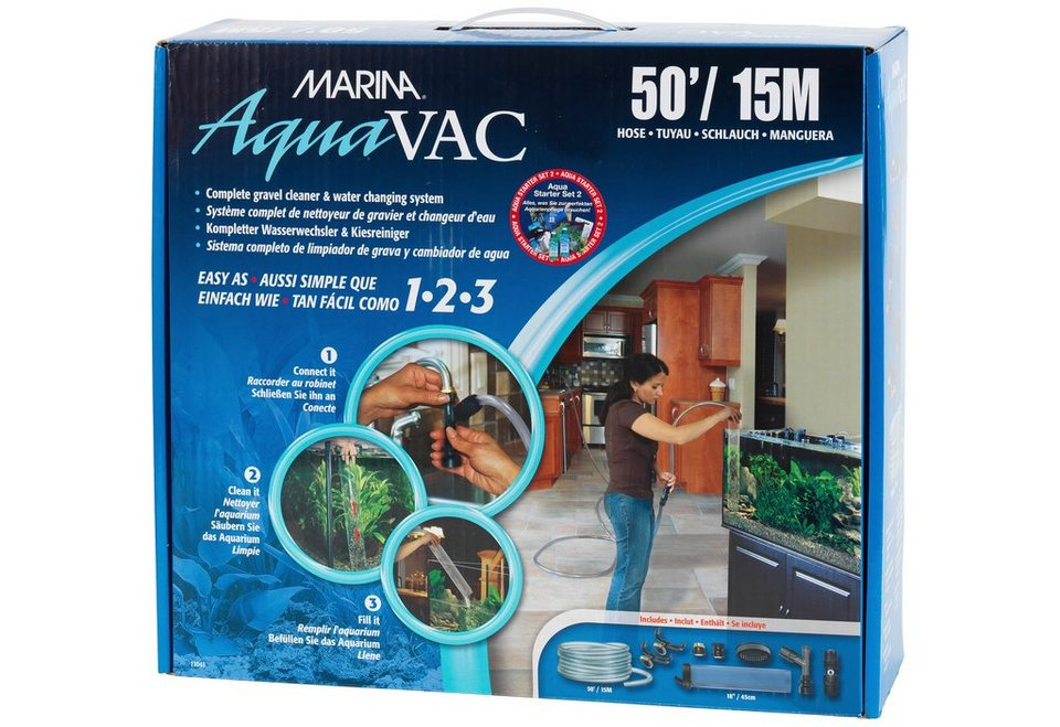Marina Aquariumpflege »Aqua Vac Starterpaket 2« (15 m) in weiß