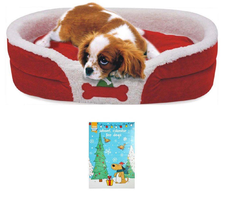 Hundebett »Weihnachtsset Hund« in rot