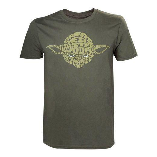 Star Wars T-Shirt »STAR WARS T-SHIRT YODA WORD PLAY GRÖSSE S NEU«