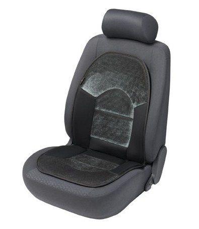 Autositzauflage »Velvet« in schwarz