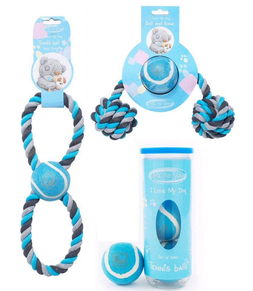 Hunde-Spielzeug-Set »Me to You 3-tlg« in blau/grau/weiß